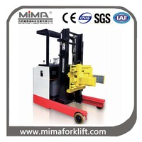 Oil drum forklift, forklift with clamp.