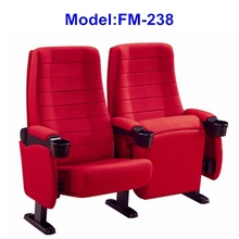 FM-238 Theater furniture folding seats for cinema with cup holder