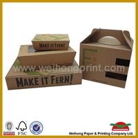 OEM fast food package box paper bag for chips , chicken, hamburger, pizza