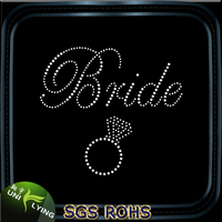 Crystal bride ring hotfix transfers wholesale