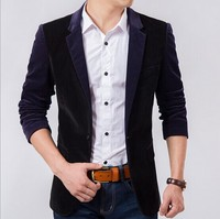 D62850T 2014 autumn and winter new style korean men's turn-down collar thin suit coat
