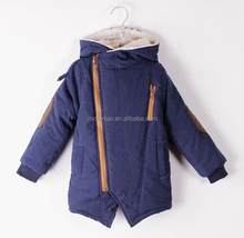 Kids Zipper Fleece Hoodies cotton-padded winter snowsuit