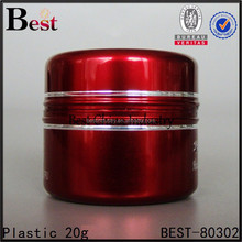 Wholesale new cosmetic plastic jars south africa popular, cosmetics cream empty jar w metal lid, 20g refill face cream jars