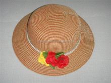 Custom straw hat wholesale, good quality paper straw hat for girls