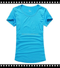 Polyester dry fit Soft feeling women training gym T shirt/gym custom tshirt