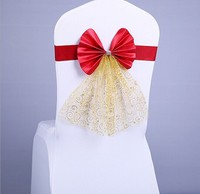 satin wedding chair cover and chair sashes for sale