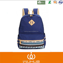 Unisex Fashionable Canvas Zip Bohemia Boho Style Backpack School College Laptop Bag