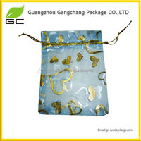 Hot sale convenient personalized fancy organza bags customized
