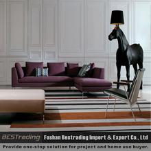 pink moderna tela do sofá secional home móveis sofá da forma l
