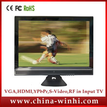 New real 1080P HD decode DC 12 volt Acrylic panel VGA YPBPR port 19inch lcd tv desktop computer monitor