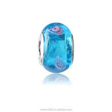 RL-21 Wholesale fashion beautiful flower glass with alloy beads bracelets