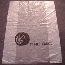 Custom and disposable plastic tire bags