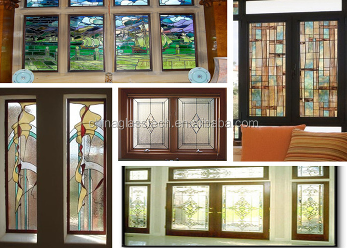 Ce Standard Size Customized Aluminum Frame Stained Glass Window ...