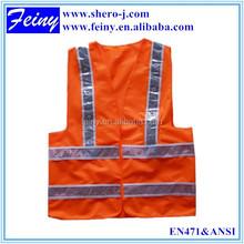 green/orange led lighted safety vest lithium
