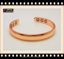 Top Sale Magnetic Bracelet Copper Finish Bio Magnet strongest magnetic bracelet with 6 magnets
