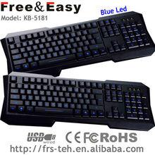 teclado grande brillante azul wireless llevó teclado
