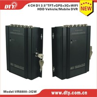 H.264 Mobile CCTV/ 4CH Vehicle DVR 3G/WIFI/GPS/G-Sensor