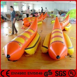 Funny water game single tube inflatable banana boat for sale