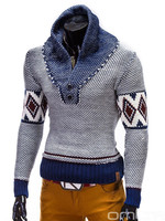 Fashionable Sweater 2015 OMBRE designed in EUROPE high collar neck korean japan style mens sweater