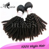Top grade curly hair extension for black women, 10-38 inch virgin peruvian curly hair weaving