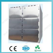 BS0969 Hospital 6 door stainless steel corpse freezer