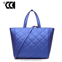 Hot sale good quality plain tote bags real leather handbags