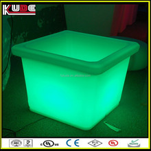 Outdoor Square Low Garden Pot/LED Plant Pot/LED Flower Pot With RGB Light Glowing Lamp