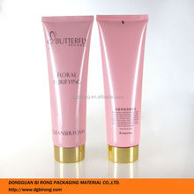 Pearlized Pink Plastic Cleanser Foam Packaging Tubes