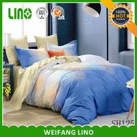 4pcs cotton print luxury ocean bed sheets