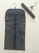 Alibaba express direct factory wholesale price hair extensions packaging bag with wooden hanger