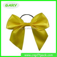 Wholesale cheap gold pre-tied satin ribbon bow with elastic loop