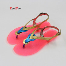 fancy free cheap light soft comfortable slim sexy styish top popular hot sale trend all- match clear pvc jelly sandal for ladies