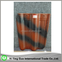 terracotta double shade ceramic roof tile made in China