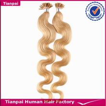Italian Keratin Glue Body Wave Human Remy I tip 100% Virgin Hair