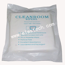100% polyester double knit cleanroom cleaning wiper non-woven wipers for wiping glass