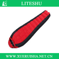 High quality duck down double sleeping bag for cold weather