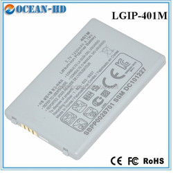 Real capacity long time mobile phone battery for LG LGIP-401M