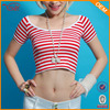 Chinese Clothing Manufacturers Custom Logo Lady Crop Top