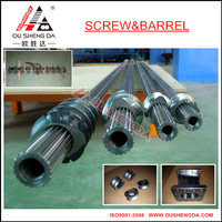 segment screw and cylinder for pp pe granule recycling