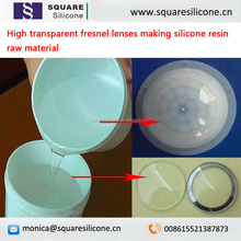 High transparent fresnel lenses making silicone resin raw material