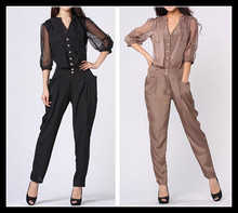 2014 new arrived best selling women jumpsuits chiffon jumpsuits