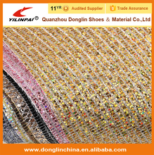 2012 Shinny microfiber leather for bags and woman fashion high heel shoes
