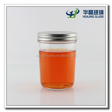 400ml clear smooth glass jar with twist off lid wholesale for jam and honey