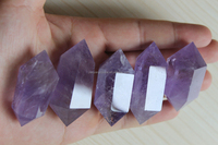 Natural Amethyst Crystal Double Terminated Wands /Quartz Points amethyst Double Terminated points