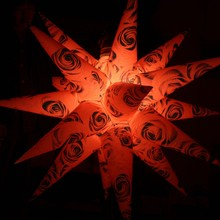 LED light inflatable star/inflatable lighting star