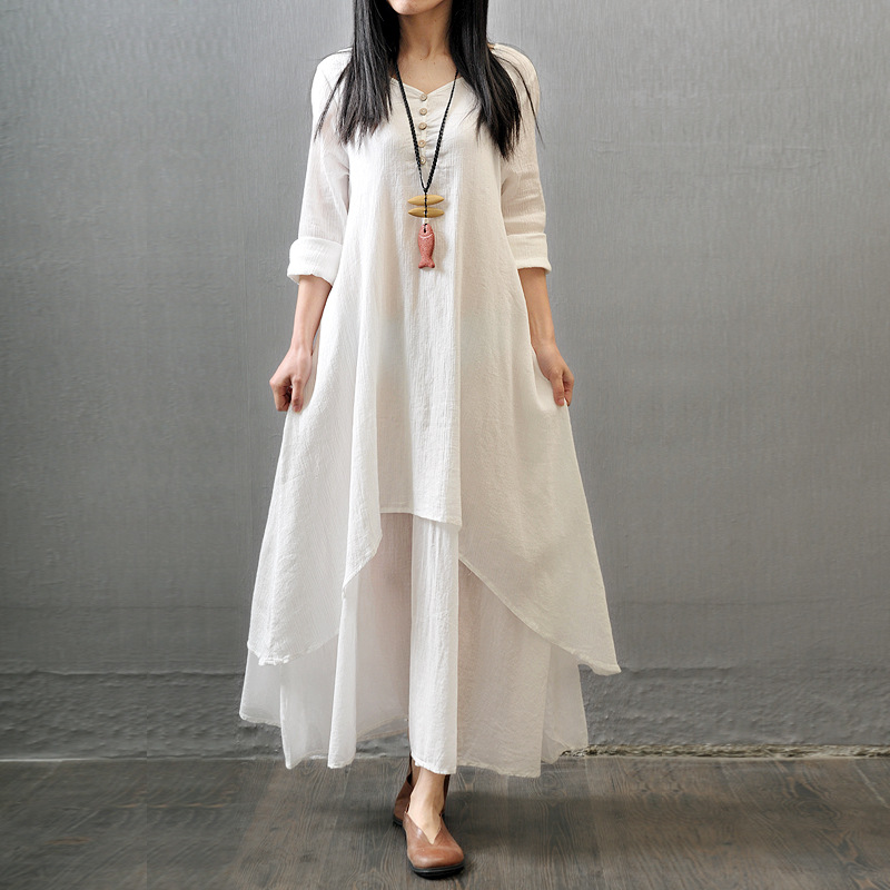 Linen long dresses