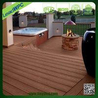 wpc fireproof composite decking cover floor for outdoor patio