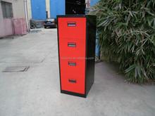 2015 Modern office 4 drawer steel filing cabinet pedestal