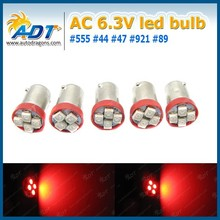 BA9S SMD Pinball LED AC/DC 6.3V BA9S SMD-P-4R red color light lamp