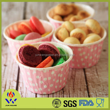white round disposable baking cups paper souffle cups